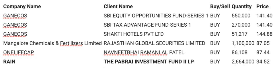 Monish Pabrai Rain Industries